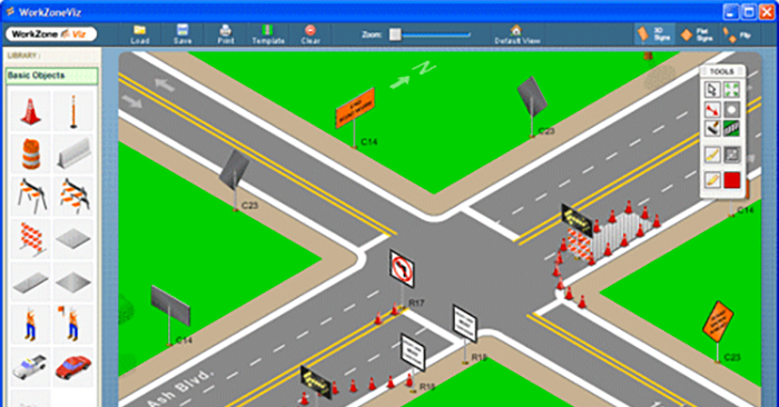 WorkZoneViz application screencapture