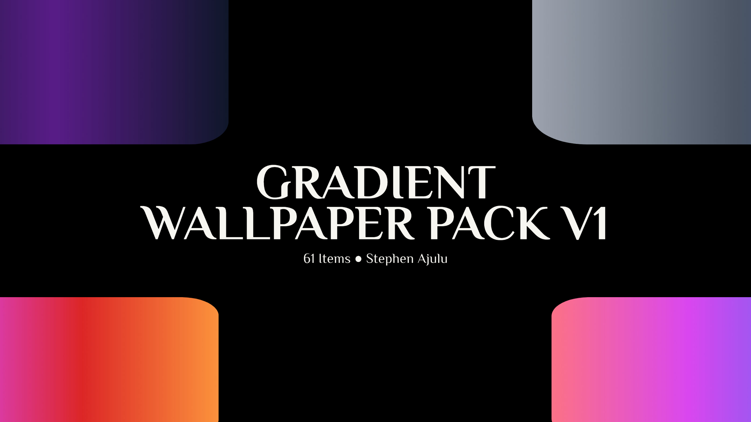 Gradient Wallpaper Pack Version 1 is Out