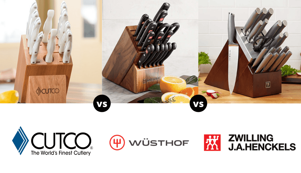 The Best Kitchen Knives Reviewed:, Cutco vs. Wusthof vs. Henckels, (2021 Review) cover image
