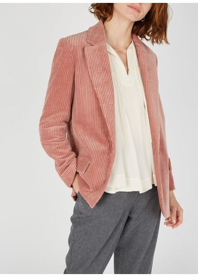 Veste femme, cote de velours rose