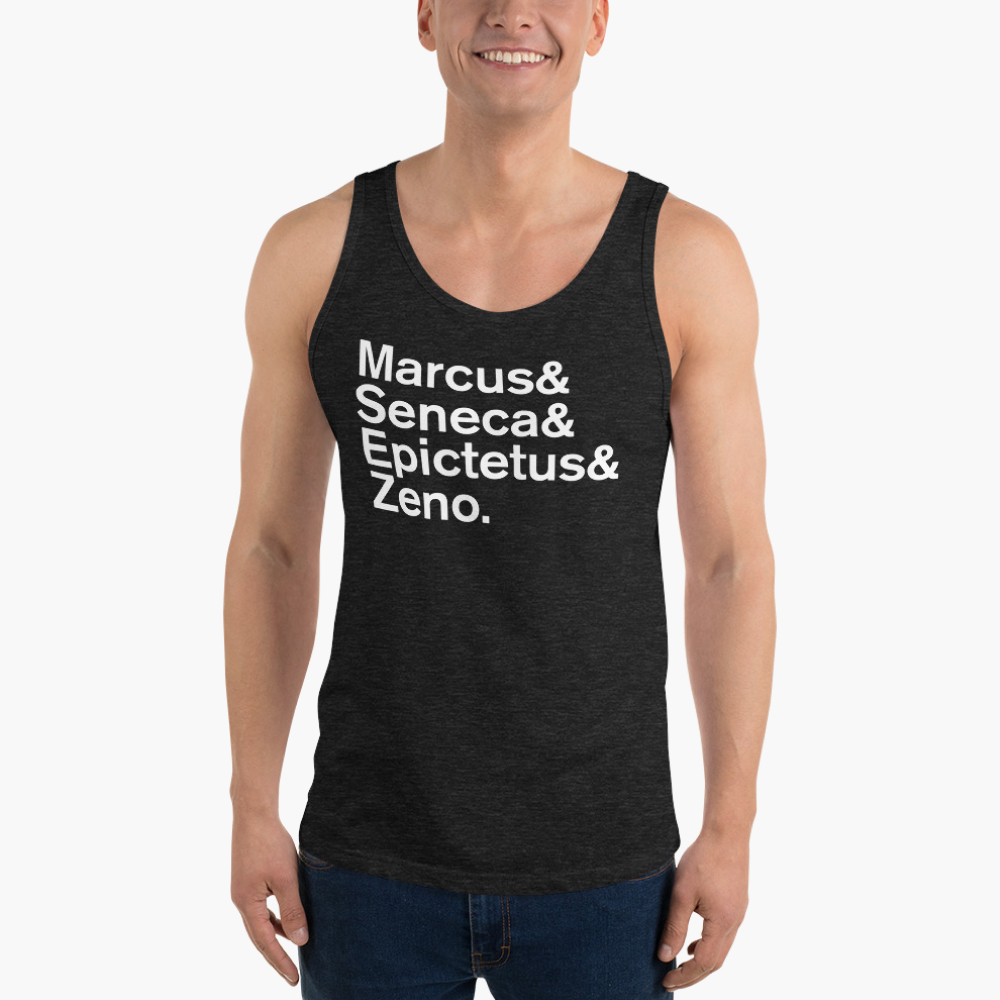 Mens tanktop  with famous philosopher names