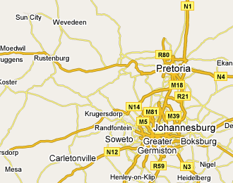 Rustenburg on the Map