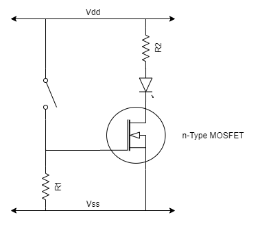 Example nFET circuit