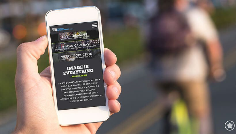 Sports Entertainment Mobile Site