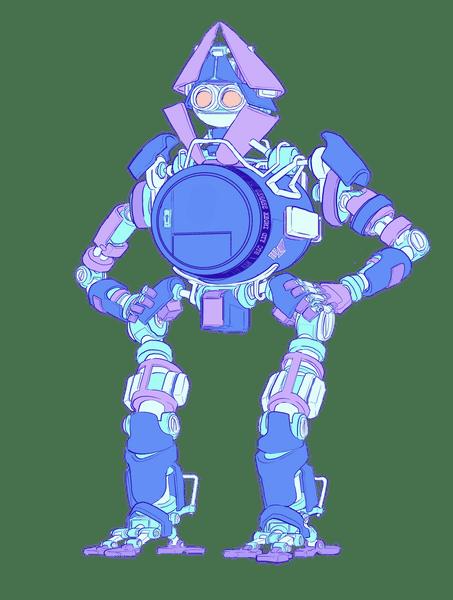 插图:一个身体是保险箱的机器人,代表一个以太坊钱包