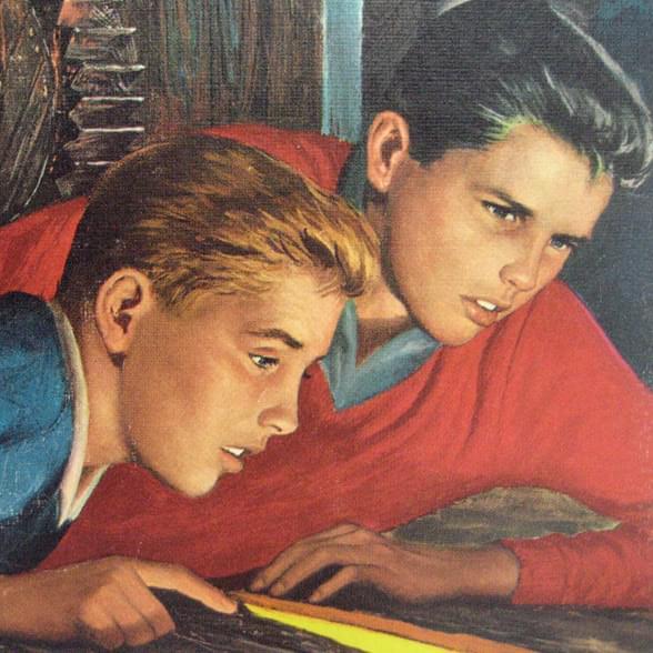 Братья Харди — дети-детективы, окоторых написано 390книг. Иллюстрация с обложки «The Secret ofthe old mill» (1962)