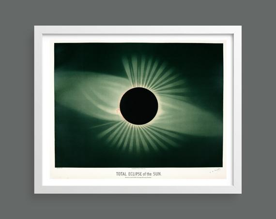 Eclipse of the Sun by Etienne Leopold Trouvelot