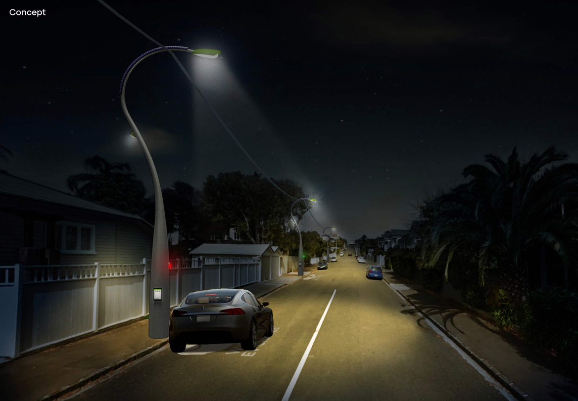 Vector Energy Future artwork of street at night