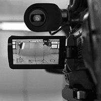 video camera recording a studio setting