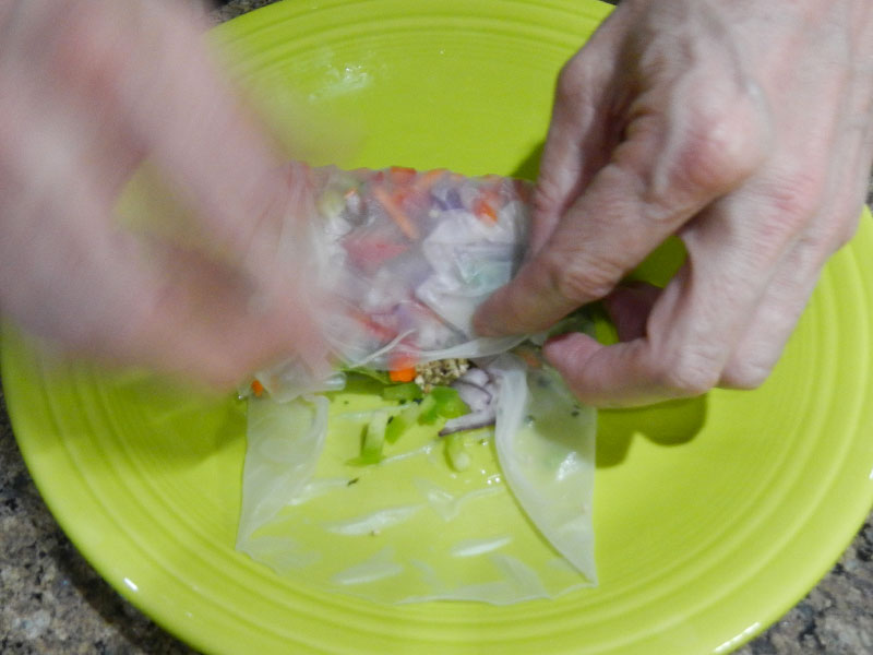 Rolling Up the Spring Roll