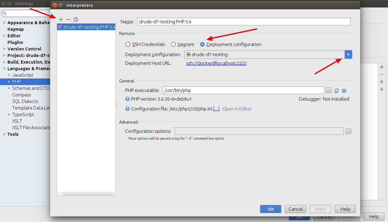 PHPStorm add PHP interpreter 2