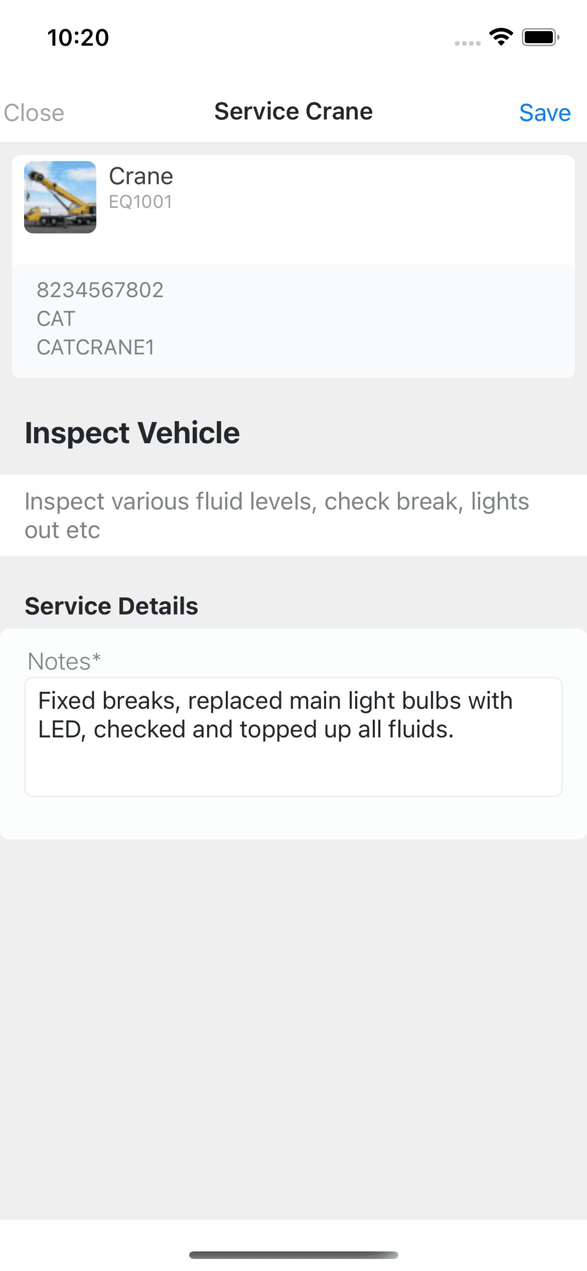 Mobile Service Item