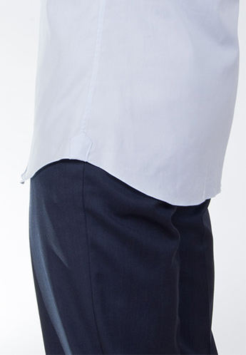 4734c156020 Photo Credit  (Proper Cloth). Dress Shirt Length Side