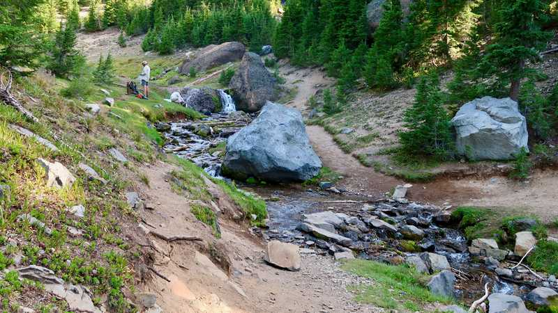 A creek at the base of Mt. Thielsen