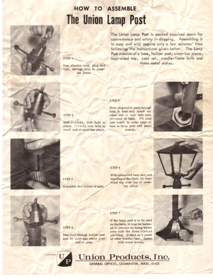 Union Products The Union Lamp Post Instruction Manual preview