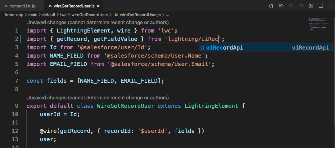 Lightning UI Completion