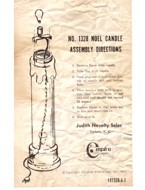 Empire Noel Candle #1328 Instruction Manual.pdf preview