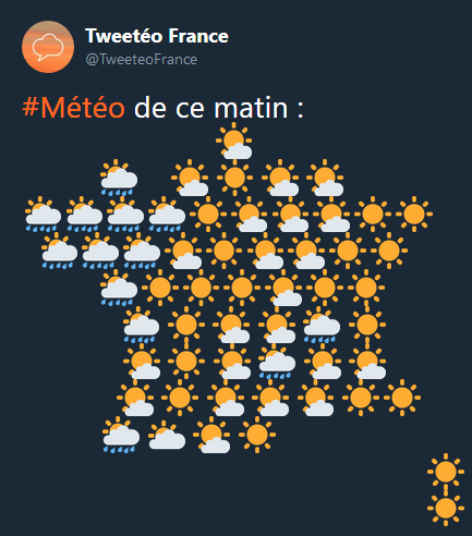 Emoji Weather Map France