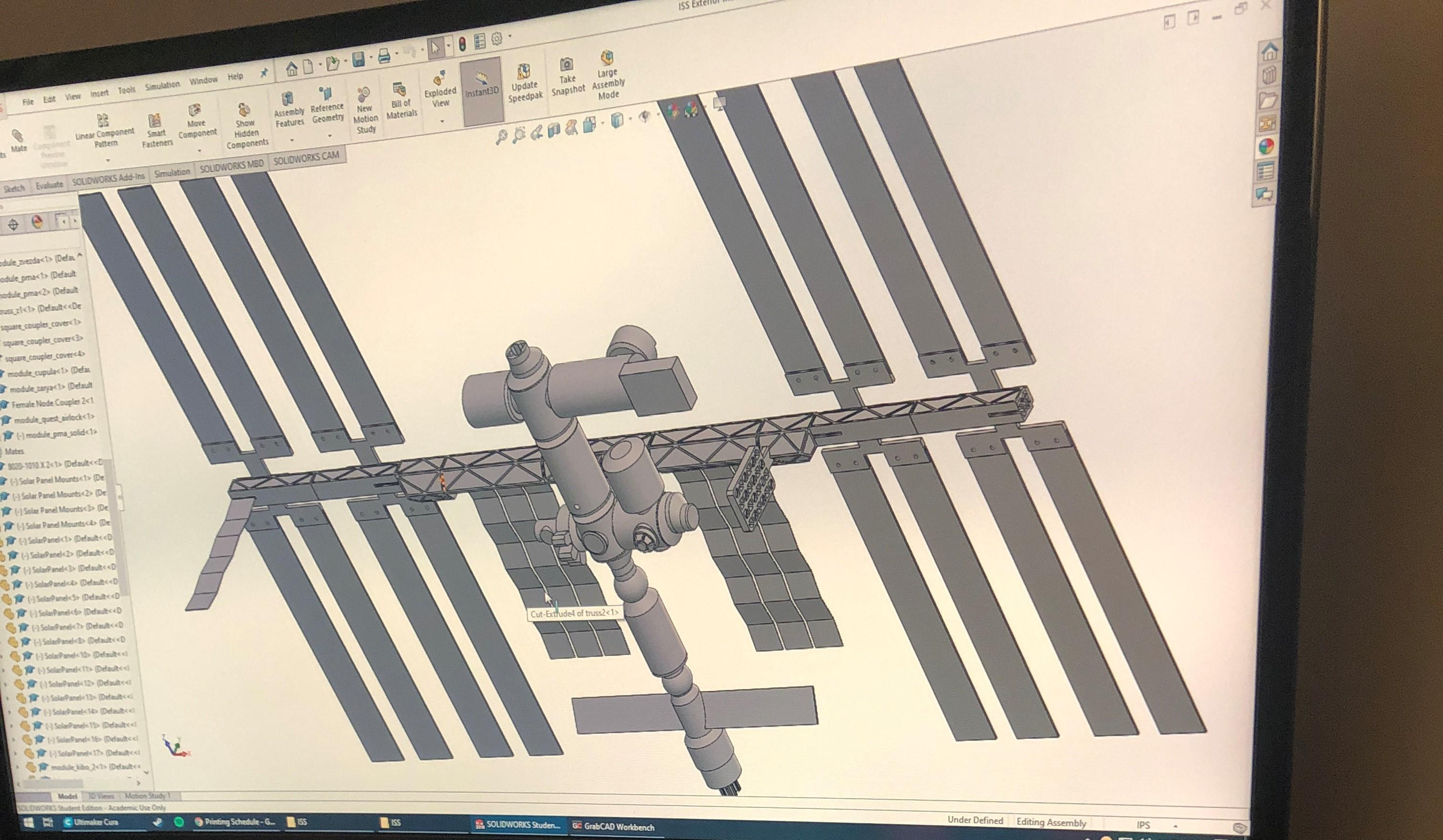 Model ISS - Solidworks Design