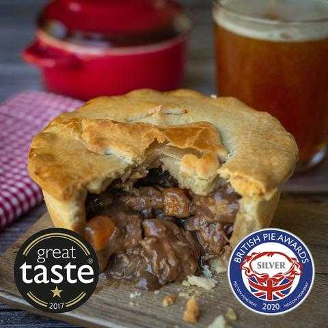 Steak and ale pie with awards