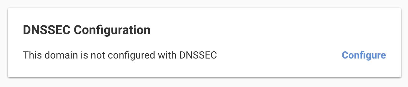 Configure DNSSEC