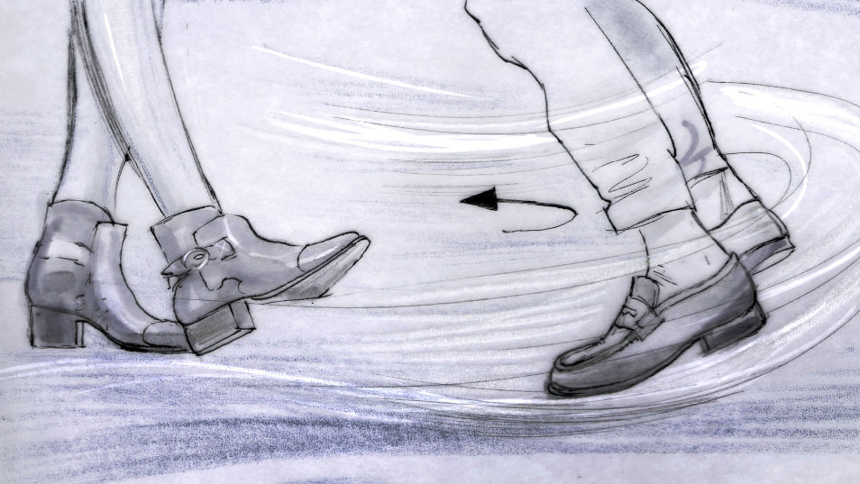 Dancing Feet Story branding pitch storyboard 010