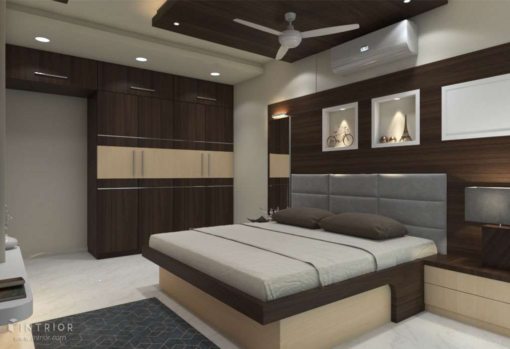 Parent's Room - Bed & Wardrobe