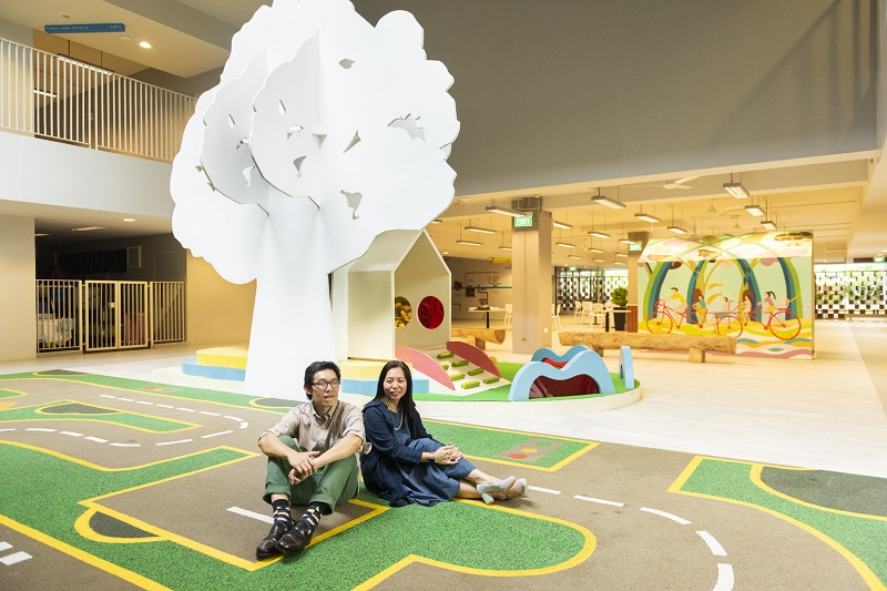 Architects Victor Lee and Jacqueline Yeo at the Rainbow Centre extension