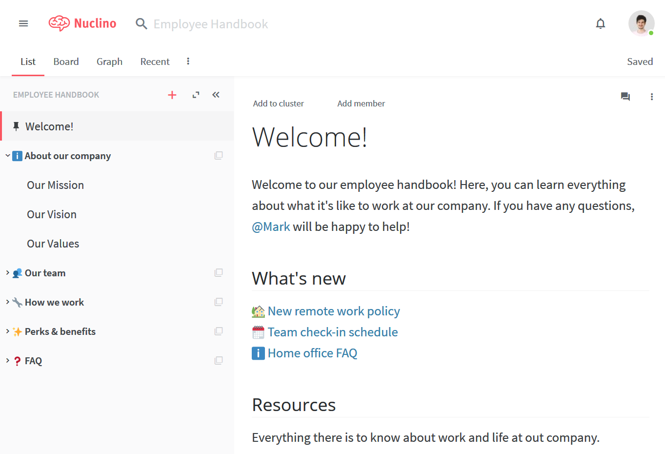 Internal wiki for new hire orientation