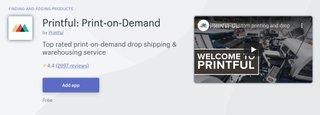 printful app for shopify