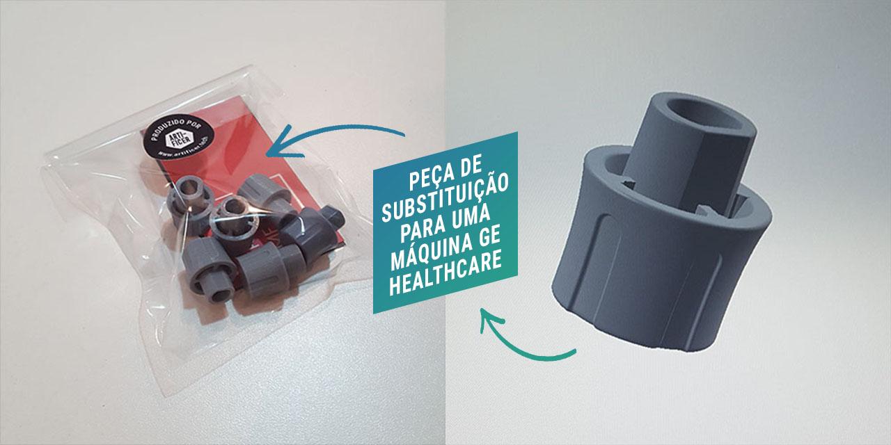 Fotos do projeto da Artificer de peças de reposição para um equipamento médico