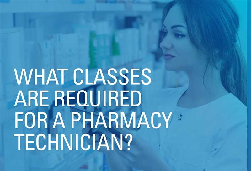 What Classes are Required for a Pharmacy Technician?