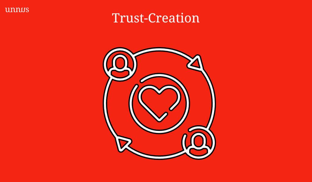 Illustration for trust creation marketing