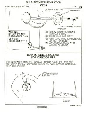 TPI Plastics Bulb Socket Installation (C25) Instruction Manual.pdf preview