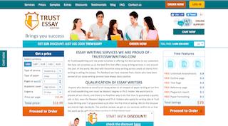 trustessaywriting.com main page