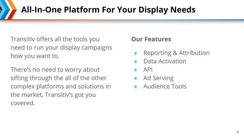 Content slide template