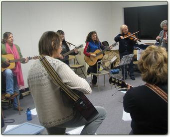 One of the many beginners group classes weve taught. As you can see, its heavily jamming-based!