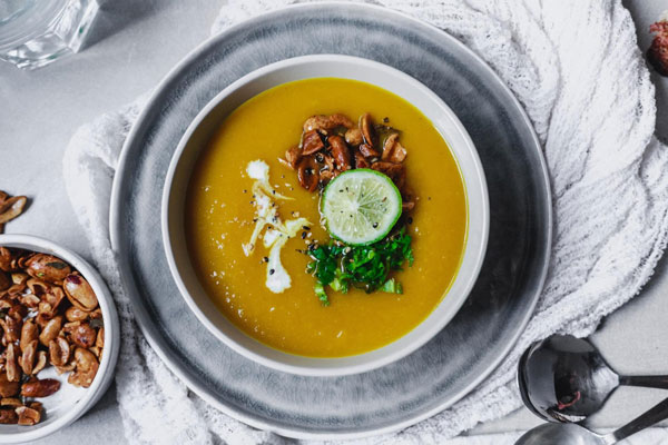 Thai Spiced Roasted Butternut Squash Soup