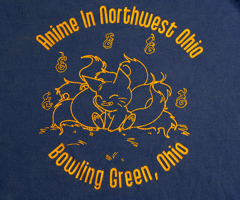 The front of the 2003 Anime In Northwest Ohio tee shirt.