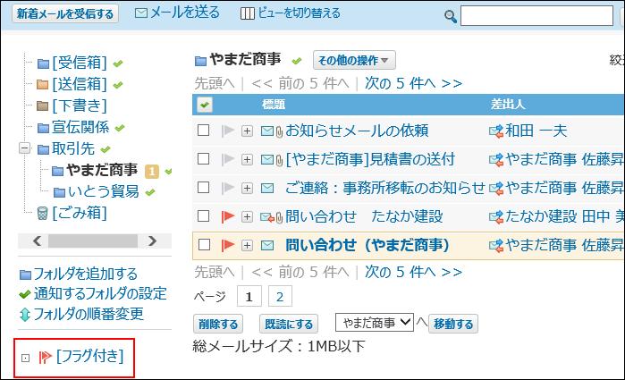プレビュー非表示でフラグ付きの操作リンクが赤枠で囲まれた画像