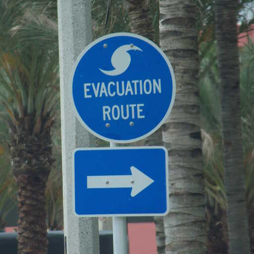 Hurricane Evacuation Route Sign Inspection