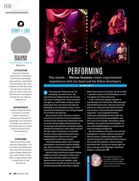 Full magazine spread