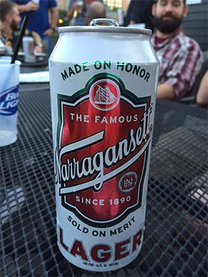 Can of Narragansett.