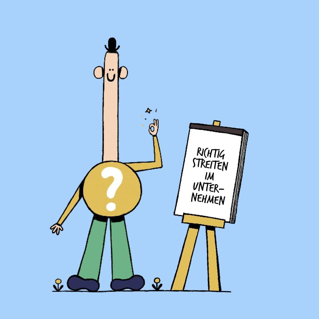 Konstruktive Streitkulutr erklärt, Illustration: Robert Löbel