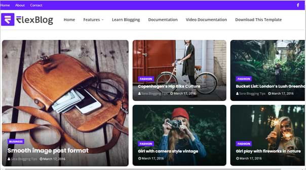 Flexblog Blogger Template Premium Free Download 2020 seo optimized