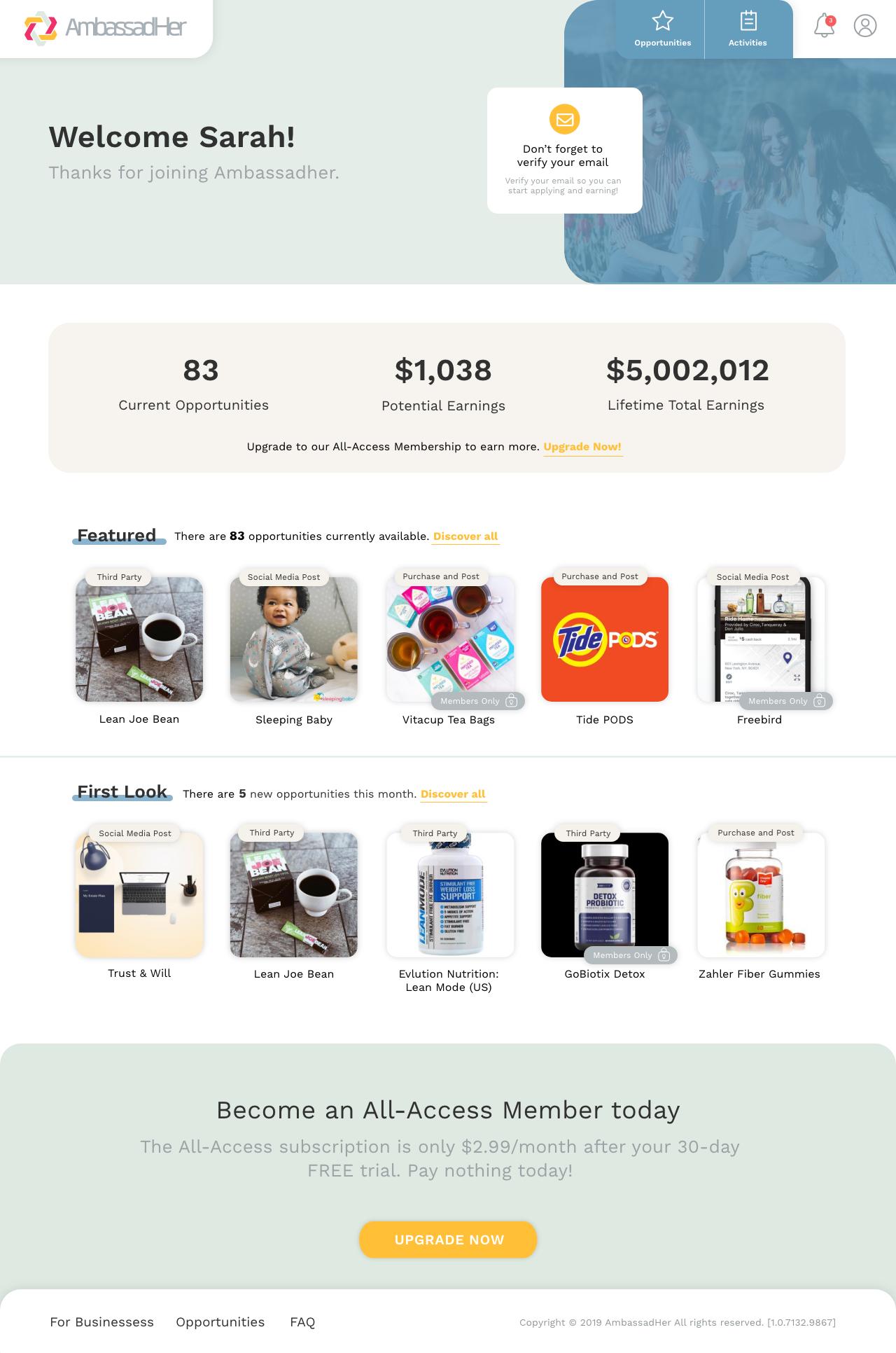 ambassadher - email desktop