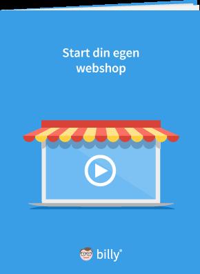 Start din egen webshop - Billy Regnskabsprogram