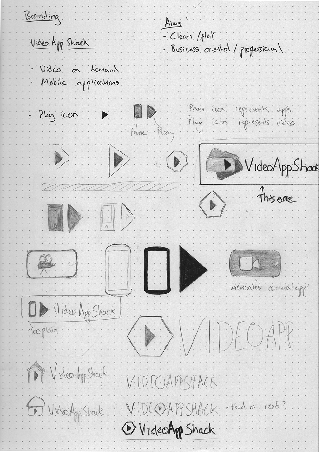 Logo initial sketches