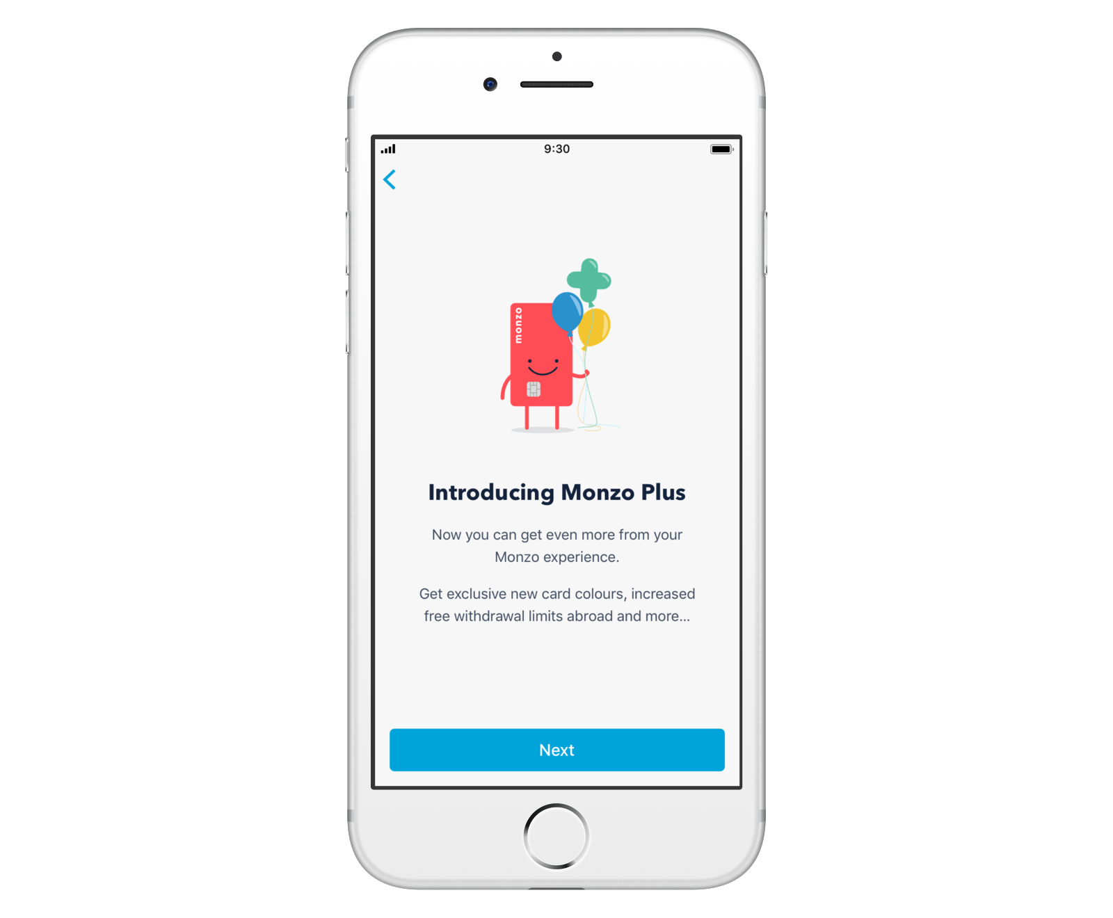 Screen introducing Monzo Plus