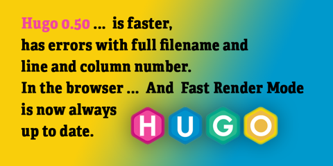Featured Image for Hugo 0.50: Errors so Good, You'll Want to Fail!